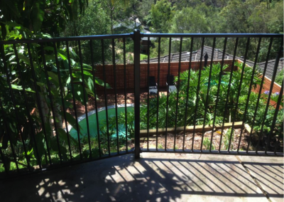 Black tubular pool fencing (Hornsby Heights)