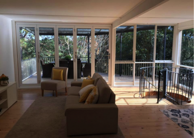 Bi-fold doors and timber floors